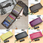 Kyпить Women Bifold Leather Credit Card Holder Long Double Zipper Purse Wallet Clutch на еВаy.соm