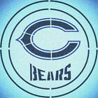 DOUBLE CIRLCE CHICAGO BEARS with TEAM NAME STENCIL SPORT FOOTBALL STENCILS $13.07 USD on eBay