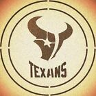 DOUBLE CIRLCE HOUSTON TEXANS w/ TEAM NAME STENCIL SPORT FOOTBALL STENCILS $10.47 USD on eBay