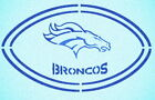 DENVER BRONCOS DOUBLE FOOTBALL STENCIL SPORT FOOTBALL STENCILS $6.63 USD on eBay