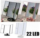 Light Up Dressing Table LED Illuminated Mirror Make Up Vanity Mirror Dimmable UK