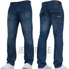 Mens Crosshatch Jeans Designer Branded Straight Fit Pants Nice All Size New