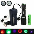 VastFire 3 in 1 Green Red UV LED Zoomable Flashlight Working Torch 18650 Charger