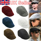 Mens Boys Flat Cap Beret Cabbie Hat Country Peaky Newsboy Golf Driving Hat Caps