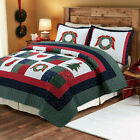 Happy Christmas 3-Piece 100%Cotton Quilt Bedding Set, Bedspread,Coverlet  image