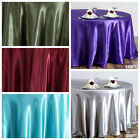 "10 pack 108"" Round SATIN Tablecloths Wedding Party WHOLESALE Supplies SALE"