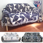 """Cotton Woven Blanket Throw Chair Cover Reversible Sofa Knitted CouchCover 51x71"""" image"""