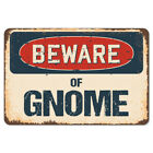 Beware Of Gnome Rustic Sign SignMission Classic Rust Wall Plaque Decoration