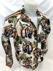 MENS VICTORIOUS TRACK JACKET Urban ZIP UP WHITE TIGER JUNGLE DESIGN ST569 NWT