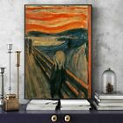 Edvard Munch The Scream Famous Canvas Art Paintings Reproductions Abstract