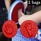 2Bag Baby Care Air Hand Foot Inkpad Drying Soft Clay Baby Footprint Imprint Cast