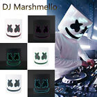 LED DJ-MarshMello Mask Full Head Helmet Halloween Cosplay Bar Music Prop Costume