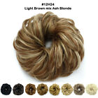 Купить Real Thick Curly Messy Bun Hair Piece Scrunchie 100% Natural Hair Extensions 89I