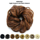 Real Thick Curly Messy Bun Hair Piece Scrunchie 100% Natural Hair Extensions 89I