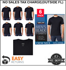 KIRKLAND Men's Crew Neck Tee T-Shirts Undershirts Black Sizes Small to 3XL image