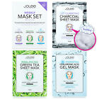JoLee Weekly 3-Step Face Sheet Mask Set Charcoal Bubble Collagen Hyaluronic Acid