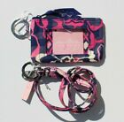Vera Bradley Zip ID Case Lanyard Card Holder Small Wallet New with Tag