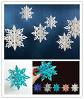 Large 3d Party 6 Hanging Garland Christmas Snowflake Home Winter Decorations Uk