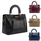 Ladies Classic LYDC Croc Handbag Stylish Executive Shoulder Bag Grab Bag GL4893