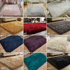 SMALL - X LARGE DAZZLE SPARKLE GLITTER SPARKLY 6.5cm LONG SHAGGY SILKY PILE RUG