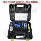 "Cordless Impact Wrench 1/2"" Li-ion Cordless Impact Driver Ratchet Rattle Nut Gun"