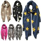 New Star Print Pattern Cashmere Winter Warm Head Scarf Women's Shawl
