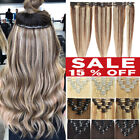 CLEARANCE Clip In 100% Real Remy Human Hair Extensions Full Head Highlight 8-24'