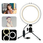 "8"" LED Selfie Ring Light w/Tripod Stand Kit For Phone Makeup Video Live Camera"