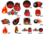 Flame fire skull 8 ball Dice fire Logo Sew/Iron on Patch Embroidered Applique $3.93 CAD on eBay