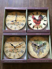 Home Trends Variety Decorative 11 Round Wall Clock Rooster Paris Grapes