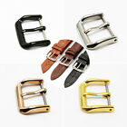 8-22mm Stainless Steel Silver Gold Parts Watch Band Strap Clasp Buckle Polished image