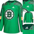 Boston Bruins Adidas Authentic St Patricks Day 2018 Mens Jersey Green 130 New