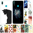 For Huawei Y5 Y6 Y7 Y9 Prime 2019 Painted TPU Soft Silicone Slim Back Case Cover