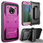 For Motorola E4 Rugged Case with Hybrid Heavy Duty Protection Cover