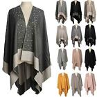 New Wool Silk Cotton Beads Decoration Ladies Winter Shawl Cape Wrap