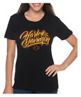 Harley-Davidson Women's Urban Grunge Short Sleeve Stretch Cotton T-Shirt - Black $24.95 USD on eBay