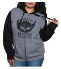 Harley-Davidson Women's Willie G Skull Colorblock Zip-Up Hoodie w/ Thumbholes $42.95 USD on eBay