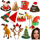 NOVELTY CHRISTMAS XMAS FESTIVE HAT OFFICE WORK PARTY ELF SANTA TURKEY TREE LOT
