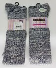 MUKLUKS a la mode Over The Knee Textured Sock Super Soft TWO Pair Color CHOICE