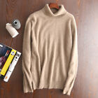 Autumn & Winter New Mink Cashmere Sweaters Men's Turtleneck Thick Loose Pullover
