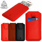 Genuine Gorilla Leather Pull Up Pouch Case Cover with Card Slot for Mobile Phone