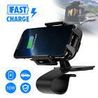 Qi Fast Wireless Car Charger Mount Holder For Samsung Galaxy S9 Note10 iPhone 11