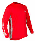 Stormr Mens L/S UV Shield Shirt Red Polyester 50+ Wicking