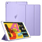 "For New Apple iPad 7th Generation 10.2"" Smart Shell Translucent Back Tablet Case"