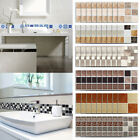 18PCS 3D PVC Mosaic Wall Stickers Waterproof Tile Sticker Kitchen Bathroom Decor $4.99 USD on eBay