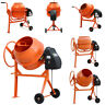 More images of 63 / 120 / 140L Electric Portable Cement Mortar Plaster Mixer Plaster Movable Wheels