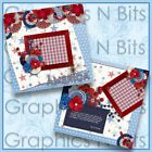 AMERICA Printed Premade Scrapbook Pages