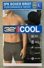 32 DEGREES COOL performance Mesh Boxer Brief 3-PACK With 3 Size (M, L, XL)