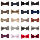 Men Wool Cotton Pre-tied Tuxedo Bowtie Wedding Party Business Bow Neck Tie $6.75 CAD on eBay