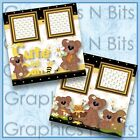 CUTE AS CAN BEE Printed Premade Scrapbook Pages